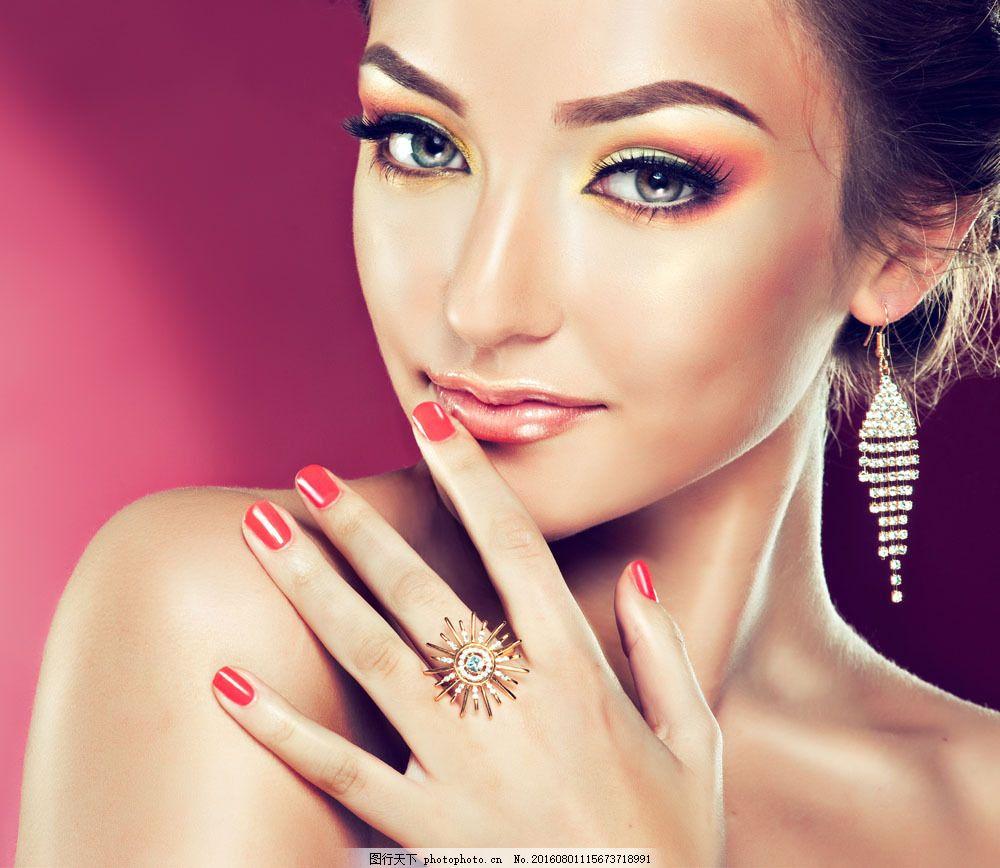 性感珠宝首饰模特美女图片