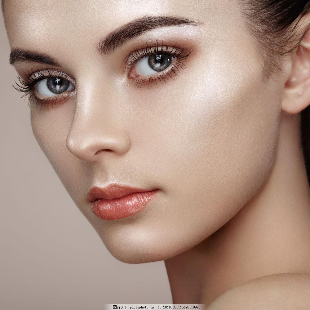 设计图库 高清素材 人物  美女脸部特写图片素材 性感美女 时尚女性