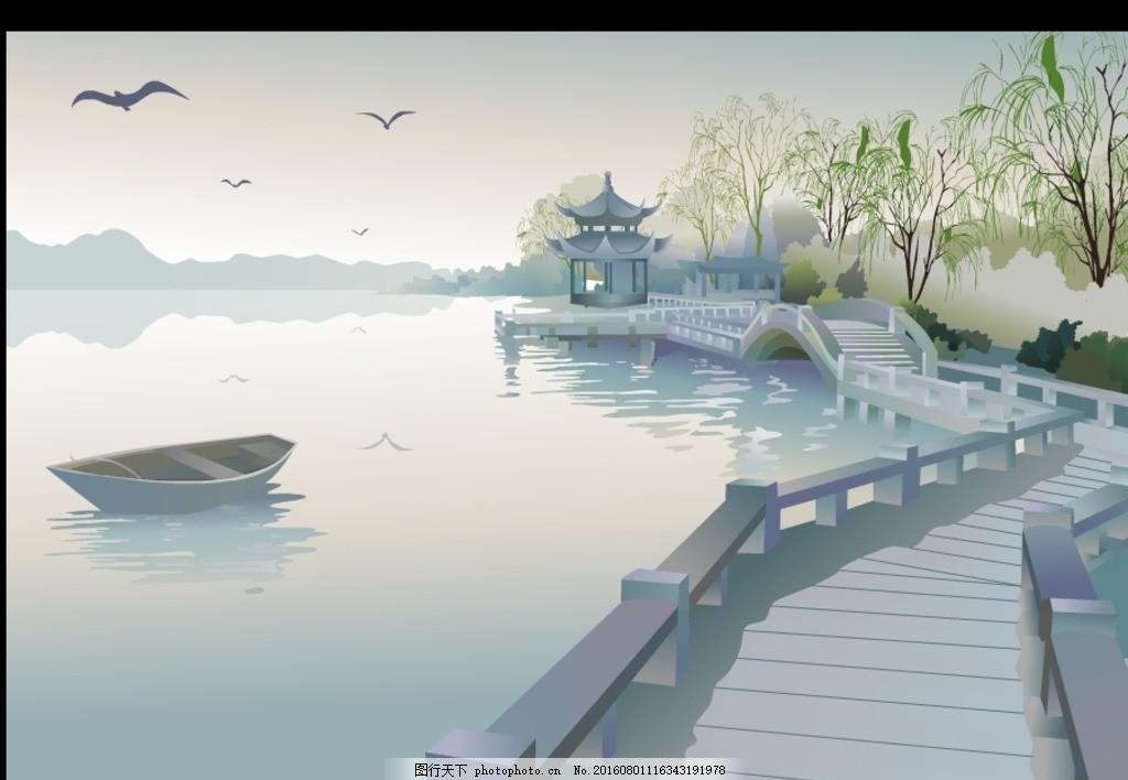 中国风西湖风景flash动画