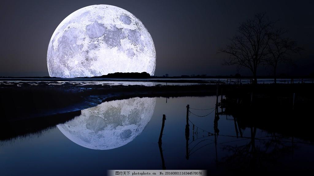中秋节月亮背景图片