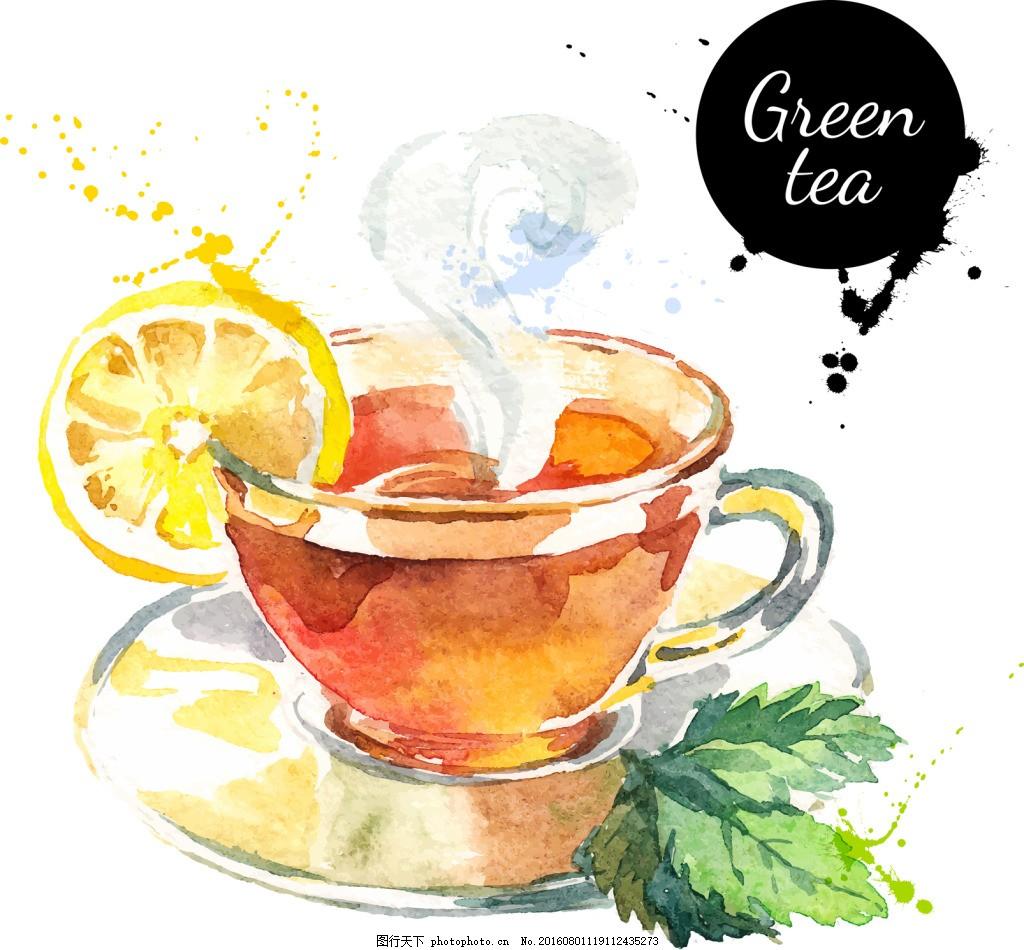 手绘柠檬茶