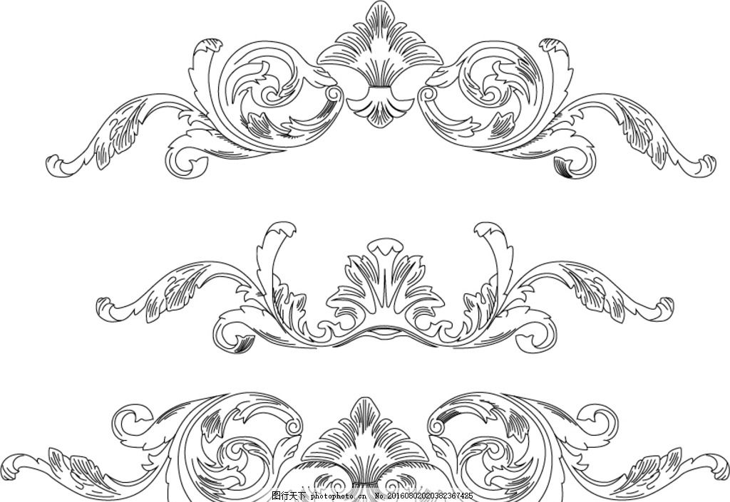 欧式花纹 花纹 底图 勾线 ai 矢量素材 欧式 线条 设计 边框 勾图是