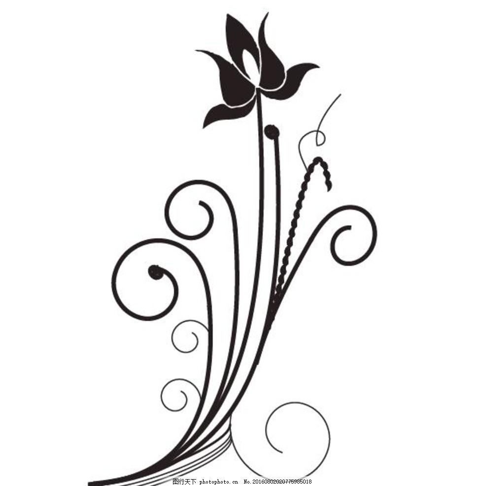 藤草装饰画 手绘藤草 树藤 草藤 信纸 卡通信纸 手绘卡通 黑白矢量 设