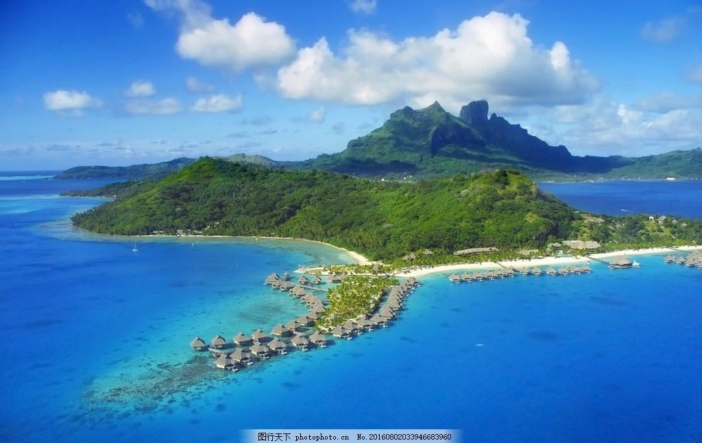 海岛度假村 沙滩 海边 海洋 热带 大海 海景 休闲 躺椅 海浪