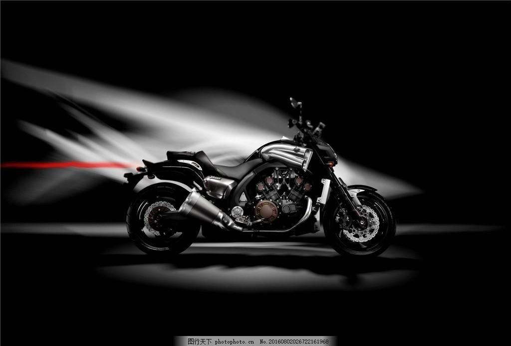 雅马哈 摩托 摩托车 大魔鬼 背景 黑白 机车 大排 街车 名车 设计