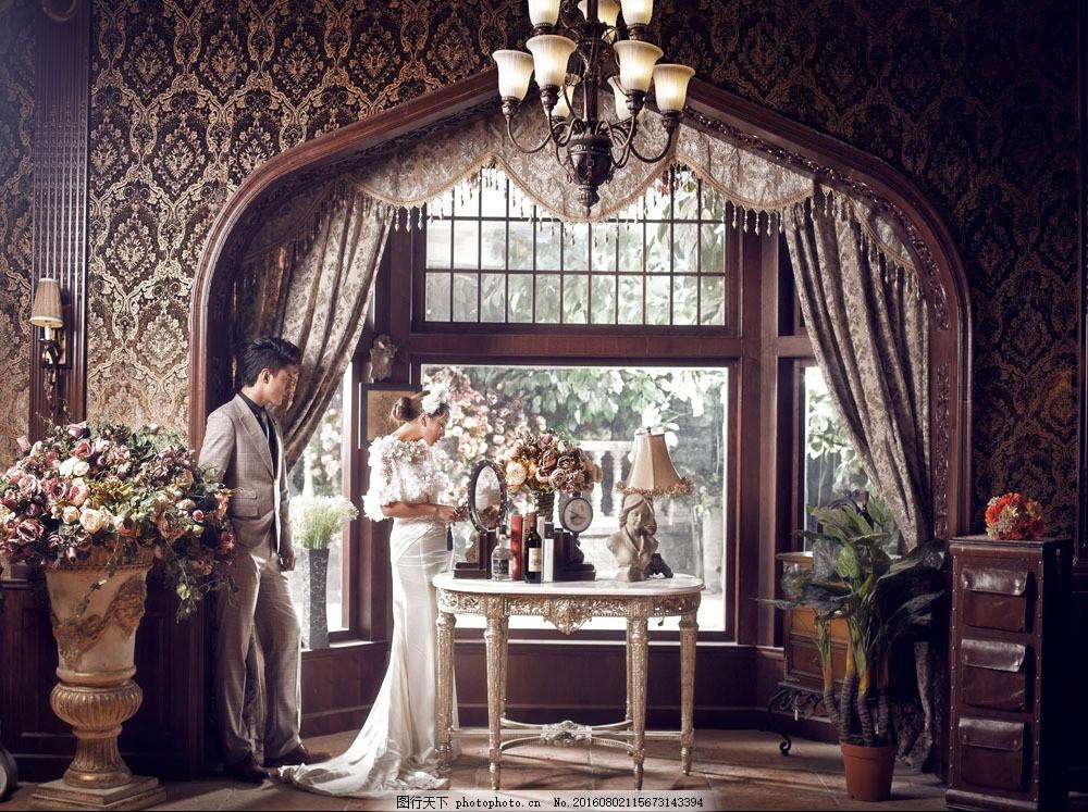 欧式情侣婚纱摄影图片
