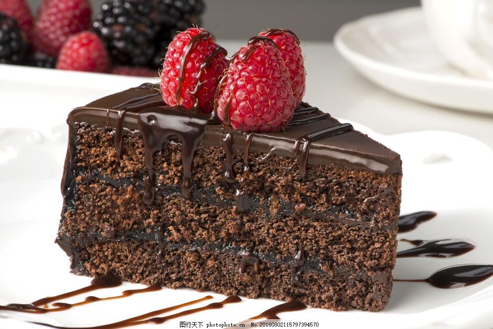 树莓三角形蛋糕图片