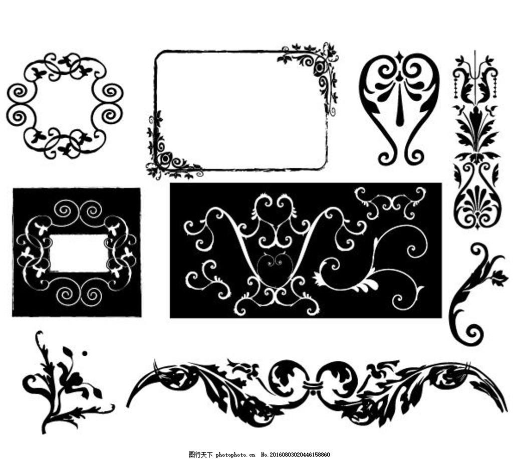 橱窗 铁艺 欧式花纹 简约 欧式花纹标签 欧式 花卉 植物 古典 彩色