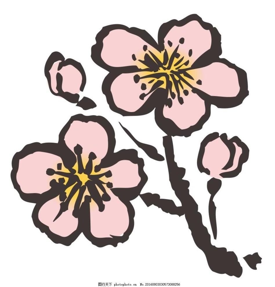 花朵 草木 艺术插画 插画 装饰画 简笔画 线条 线描 简画 黑白画 卡通