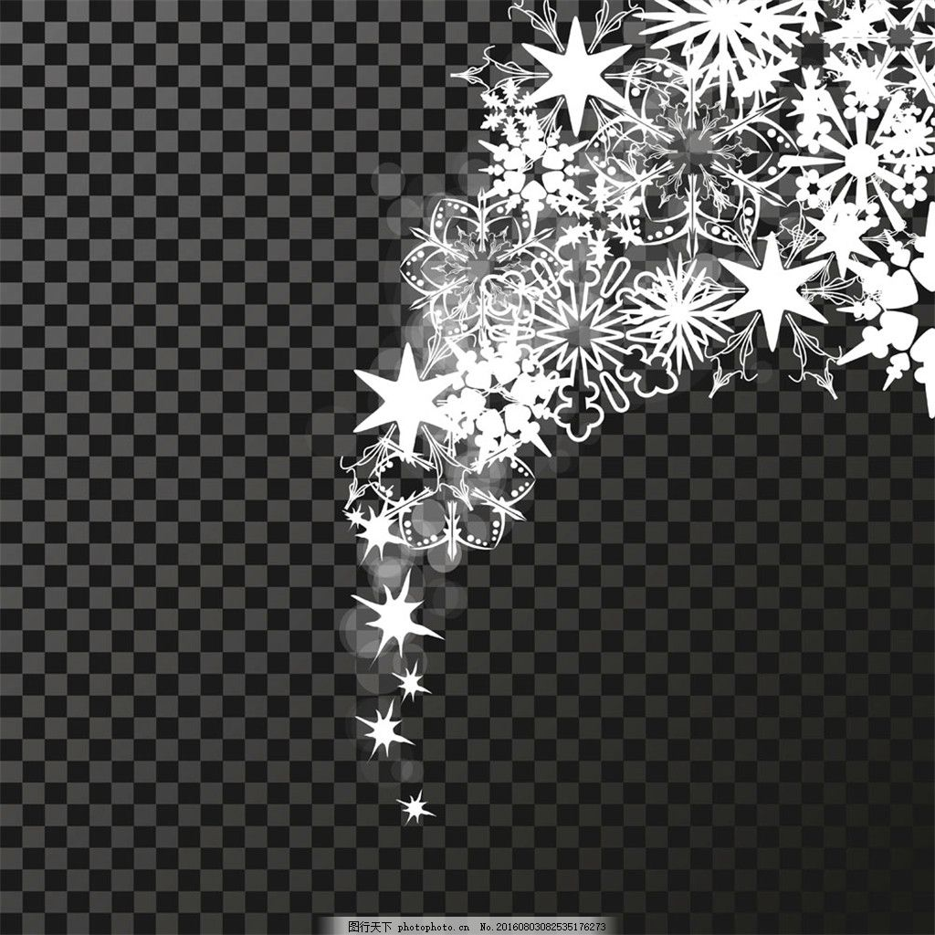 白色光效设计素材 花朵 花纹 星星 星光 透明 笔刷 矢量 耀眼