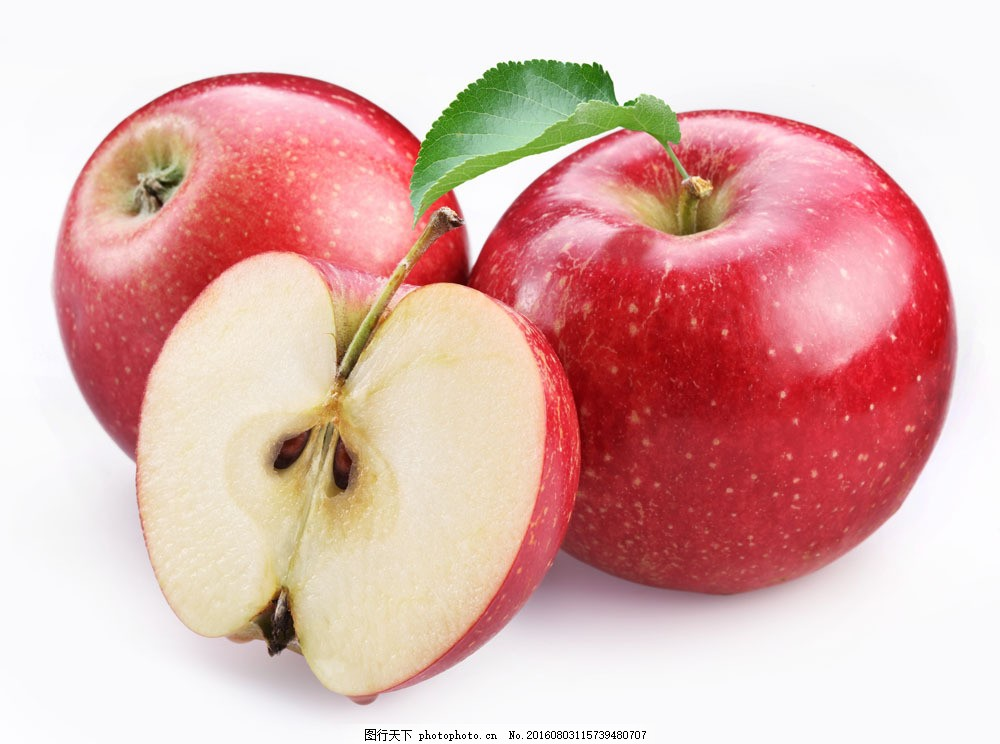 新鲜苹果 新鲜苹果图片素材 新鲜水果 切开的苹果 餐饮美食图片