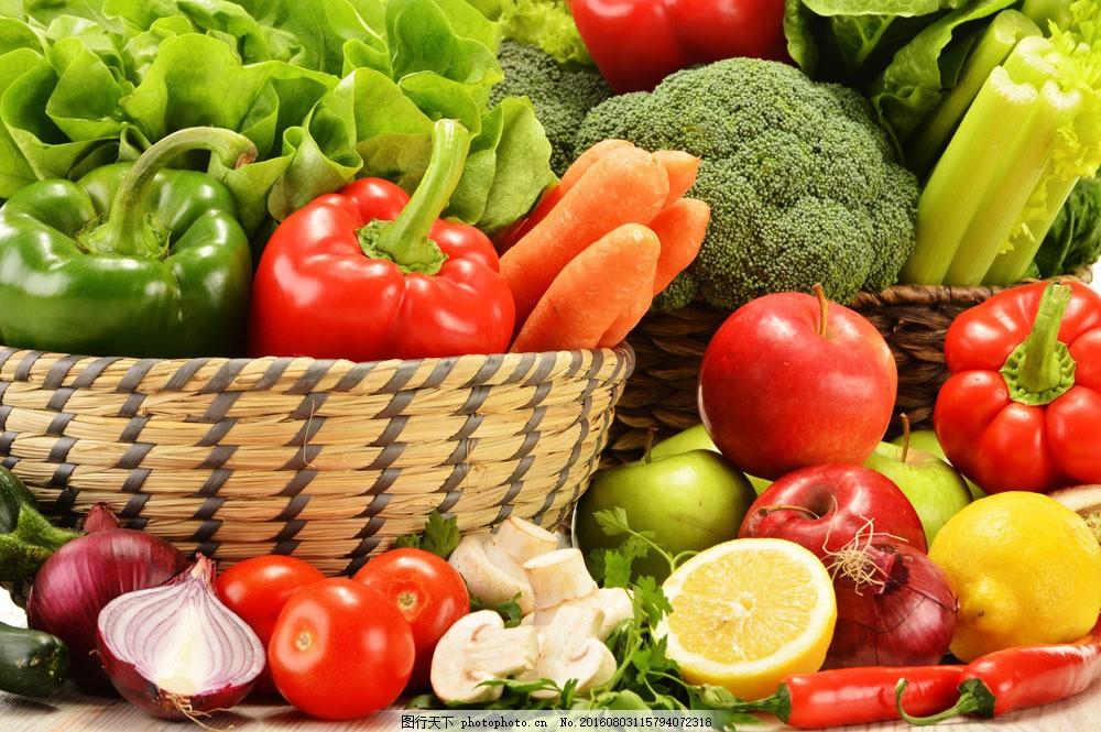 新鲜的蔬菜和水果图片