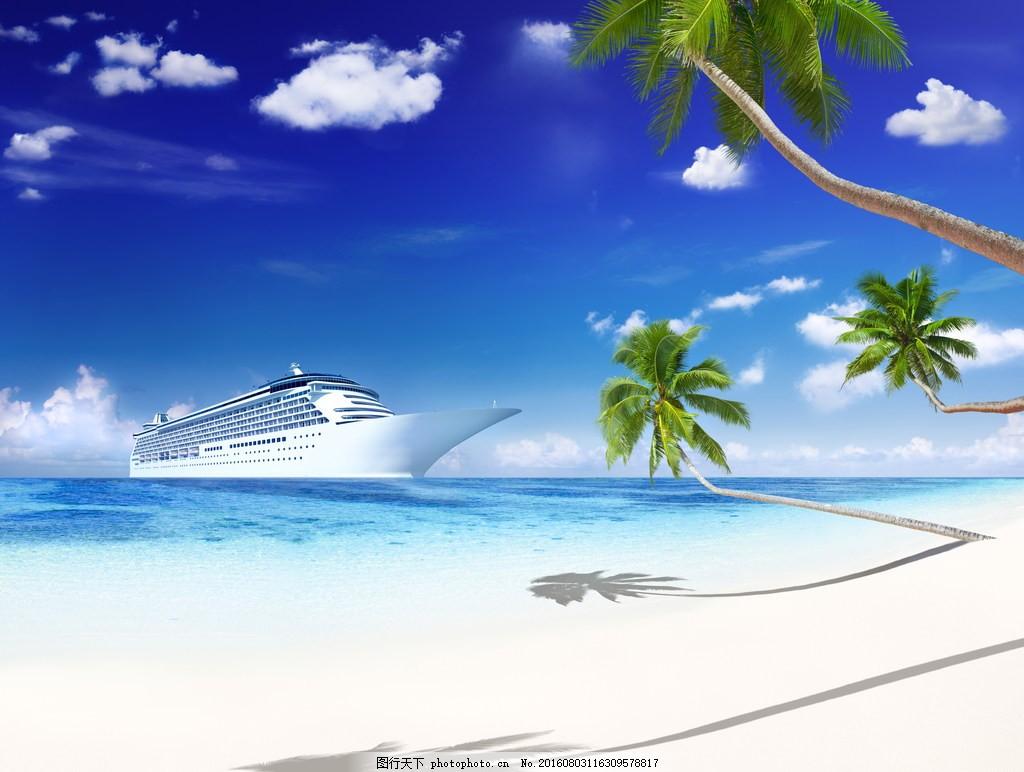 蓝色海边风景图片下载 海边 大海 海水 海岸 沙滩
