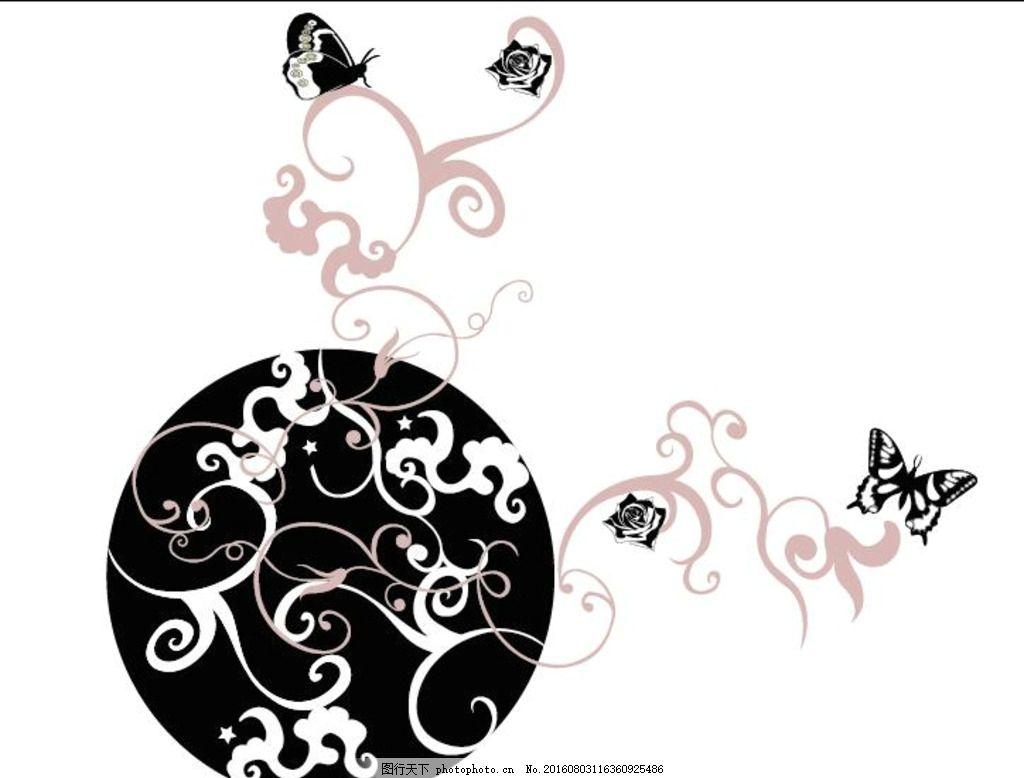 手绘 数码花型 手绘花卉 手绘花纹 花型图案 牡丹 中式花纹 青花瓷