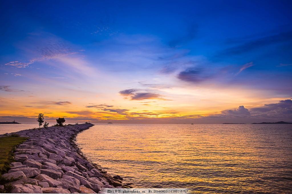 唯美黄昏海景 黄昏海景 黄昏图片 海景图片 海边黄昏 海边风景 黄昏