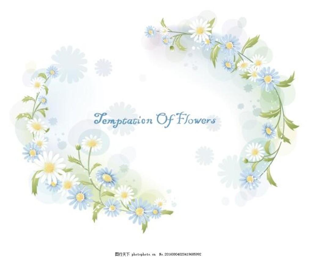 圆形花边矢量图 欧式花朵边框 欧式鲜花边框 花边边框 相框 编织 花草