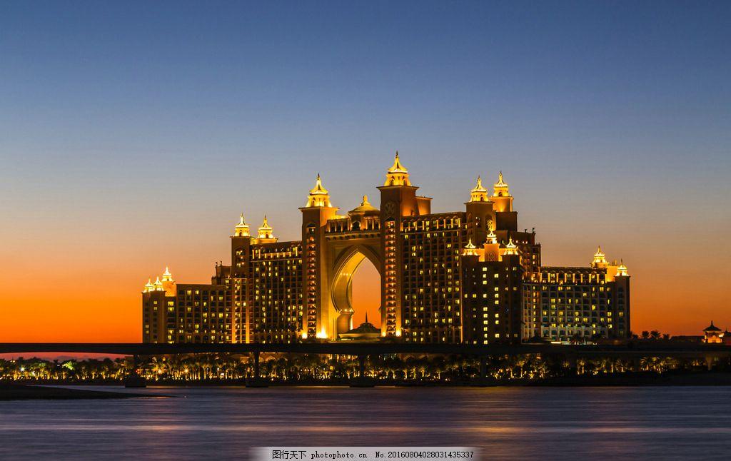 建筑摄影 奢华夜景 海报背景 高清 都市 群楼 旅游 建筑景观 城市