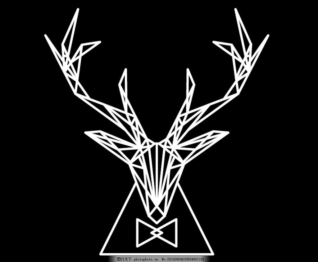 鹿头的画法步骤