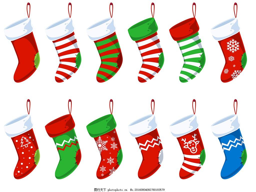 圣诞节袜子素材