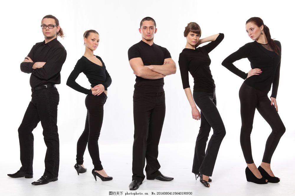 男女服装模特图片素材 外国女性 女人 外国男性 男人 男模特 女模特