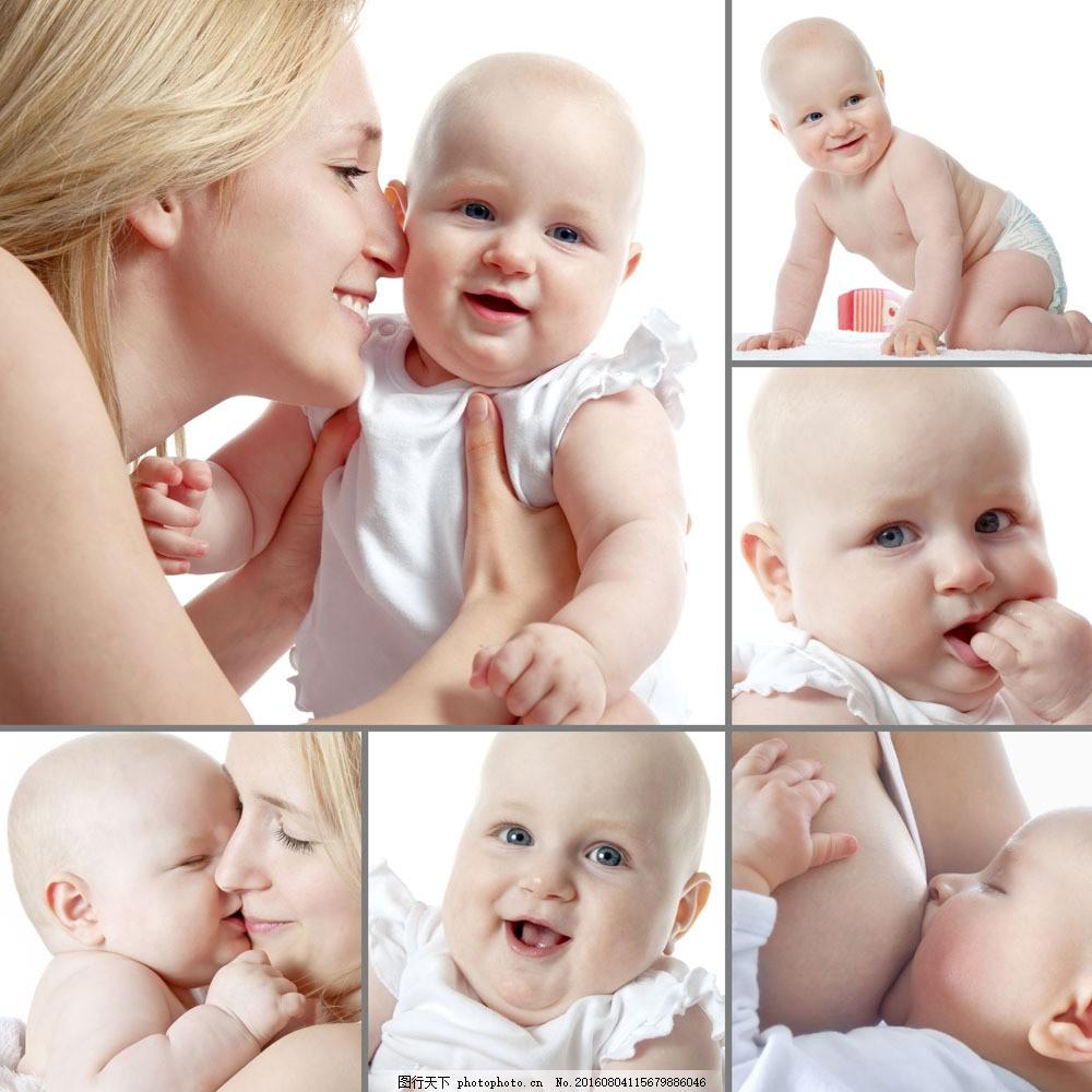 抱着婴儿的妈妈宝宝图片