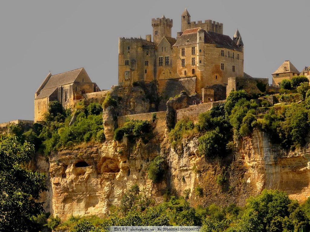 高清欧式古城堡建筑图片下载 碉堡 古堡 欧式城堡 欧洲城堡 山顶