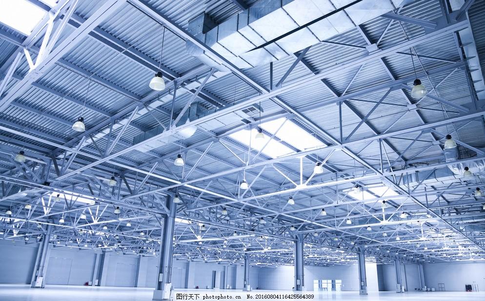 钢构房间 厂房 工厂 库房 钢铁 大型库房 钢铁结构 办公商务 摄影