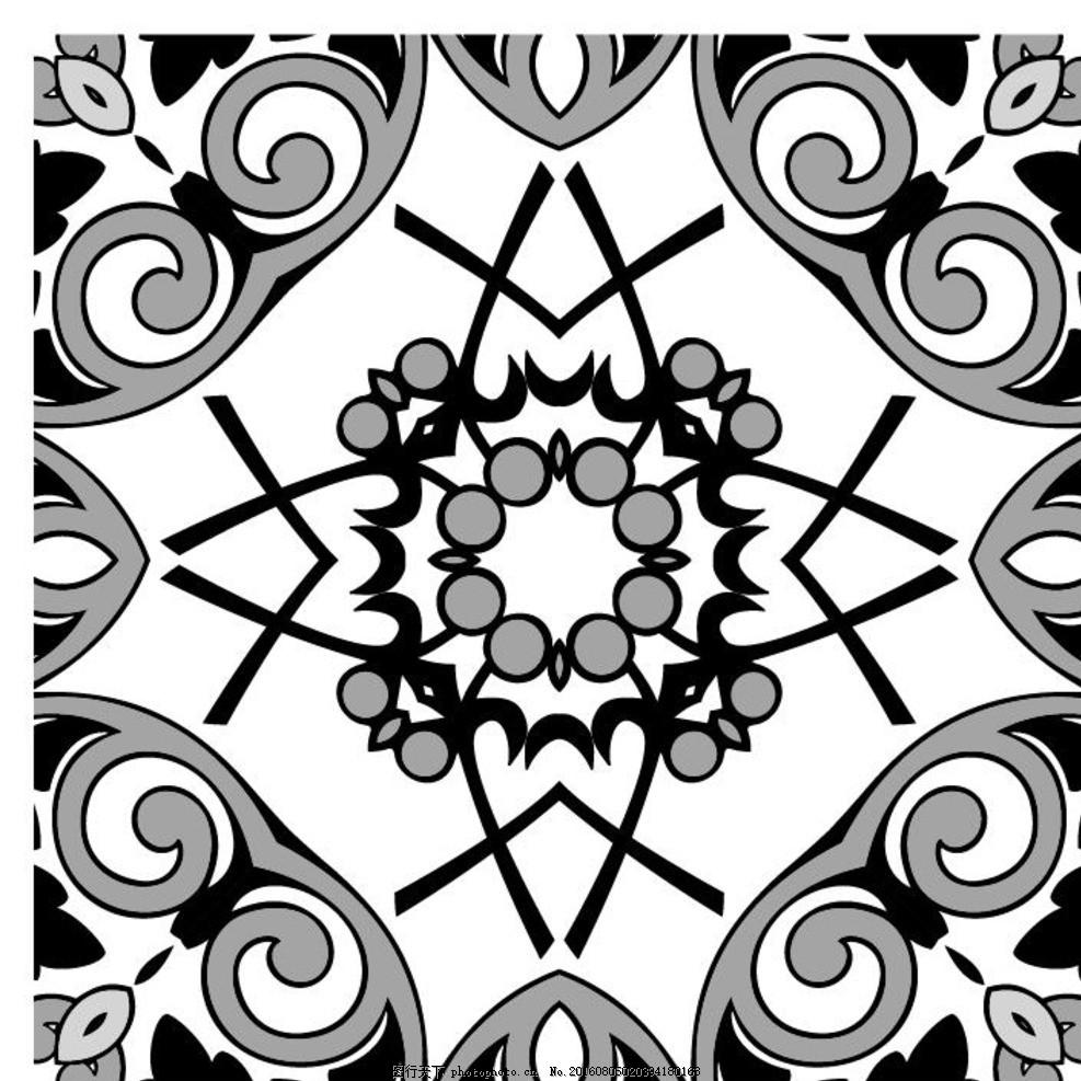 古典纹样 黑白中古元素 花纹 祥瑞 中国传统元素 中国民族元素 设计