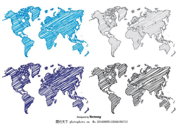 涂鸦风格的世界地图 素描 白板 载体 艺术 孩子 地球 美国