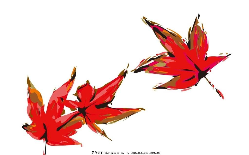大枫叶手绘素材