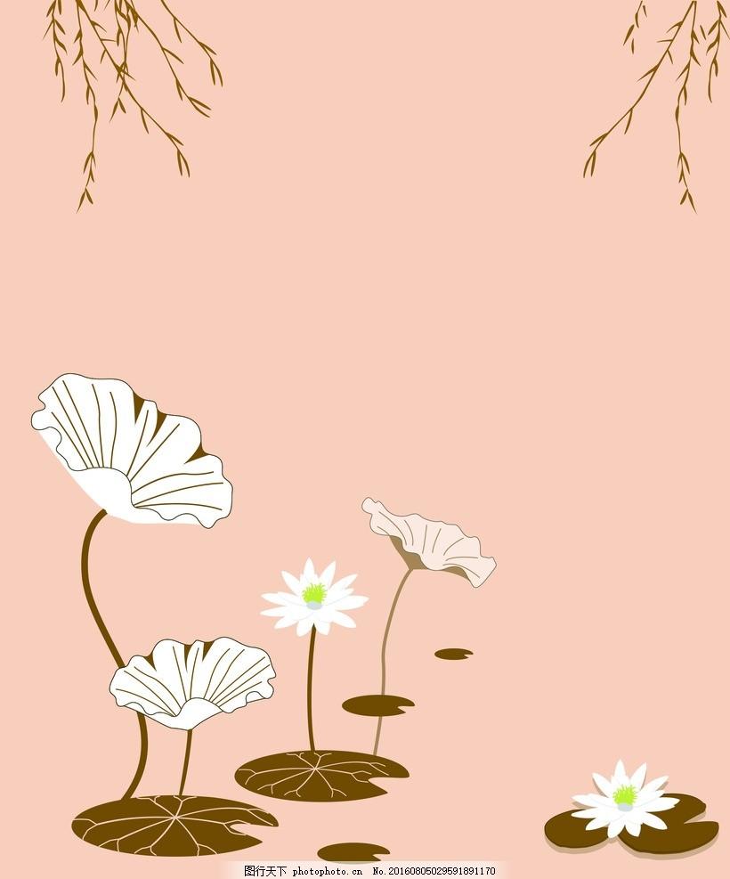 春天垂柳下侧影