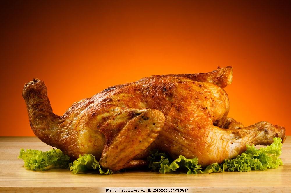 全鸡美食图片素材 全鸡美食 食物 美食 烤鸡 烧鸡 生菜 餐饮美食 中华