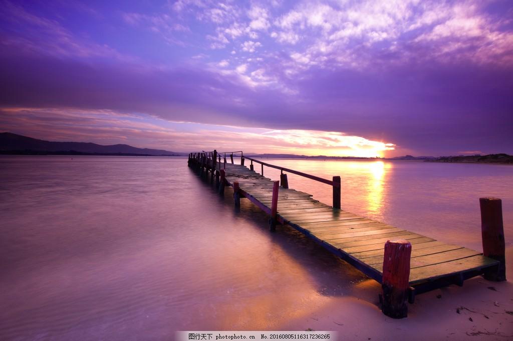 海边木桥风景图片