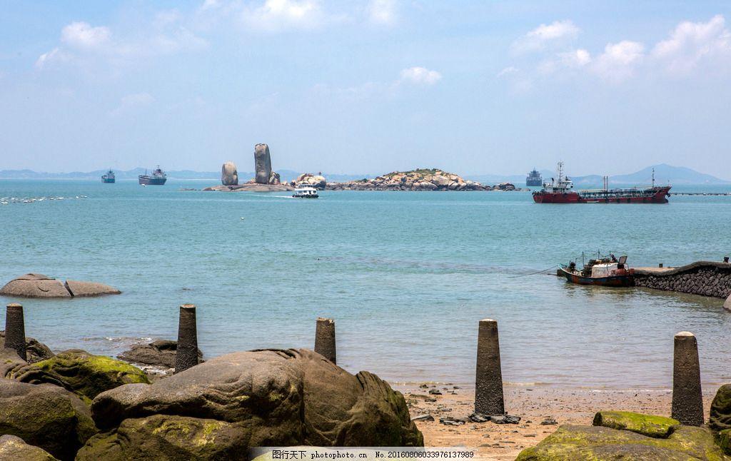 平潭风景 福建 福州 蓝天 海水 沙滩 石头 岛 摄影 国内旅游