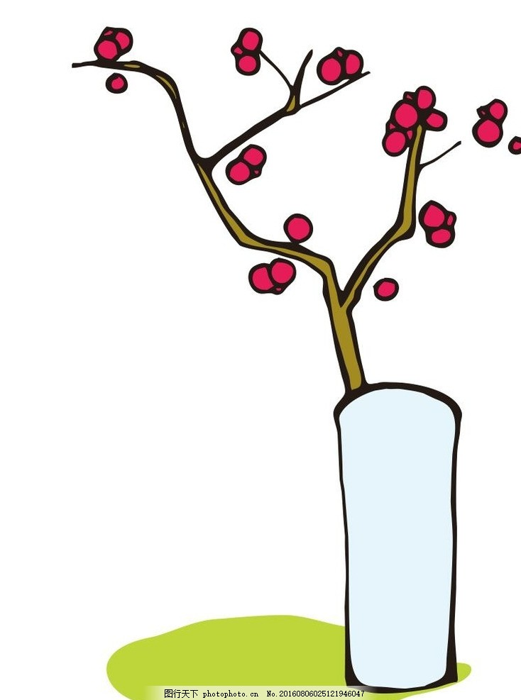草木 艺术插画 插画 装饰画 简笔画 线条 线描 简画 黑白画 卡通 手绘