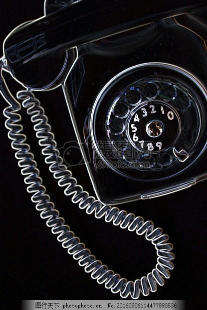 透明的电话机 座机 数字 转盘 网孔 通讯 联系 打电话 红色