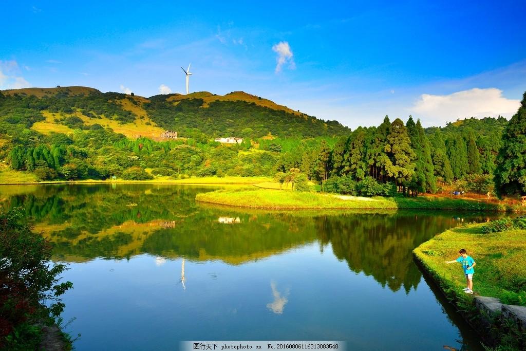 绿色山水风景图片