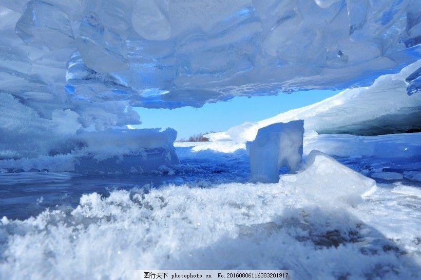 白色冰雪世界风景