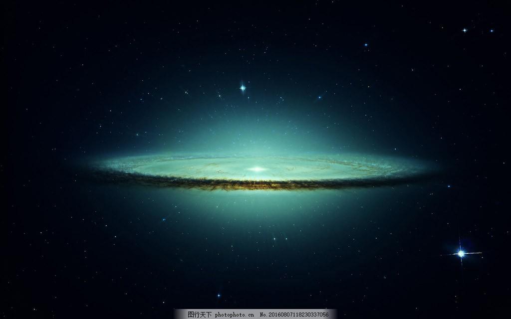 科幻银河系星空星光极光背景