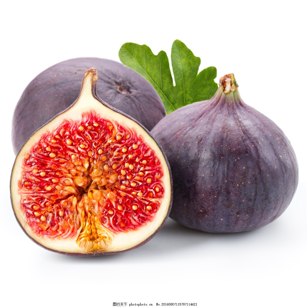无花果 果实 果肉 切开 水果 新鲜图片
