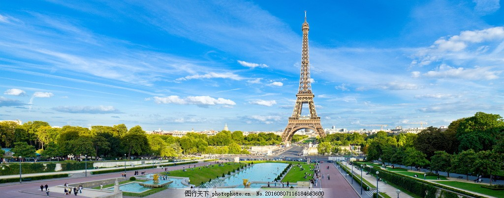 巴黎埃菲尔铁塔风景图片