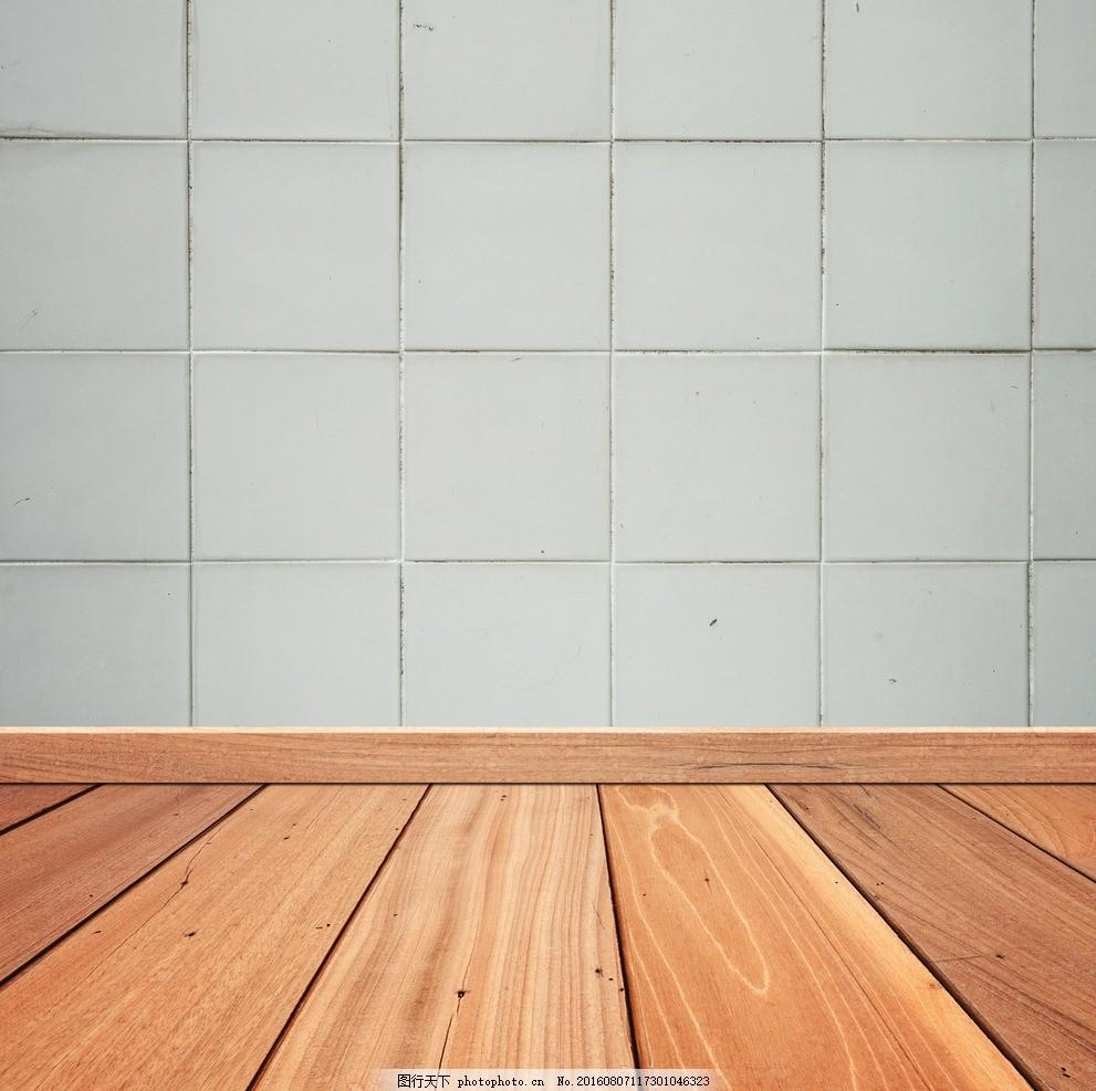 空间木纹地板水泥墙面背景底纹