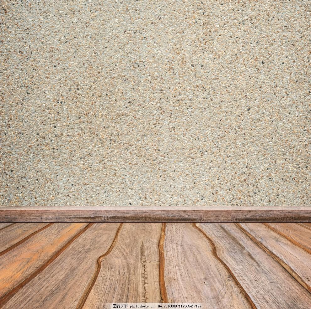空间木纹水泥墙面背景底纹