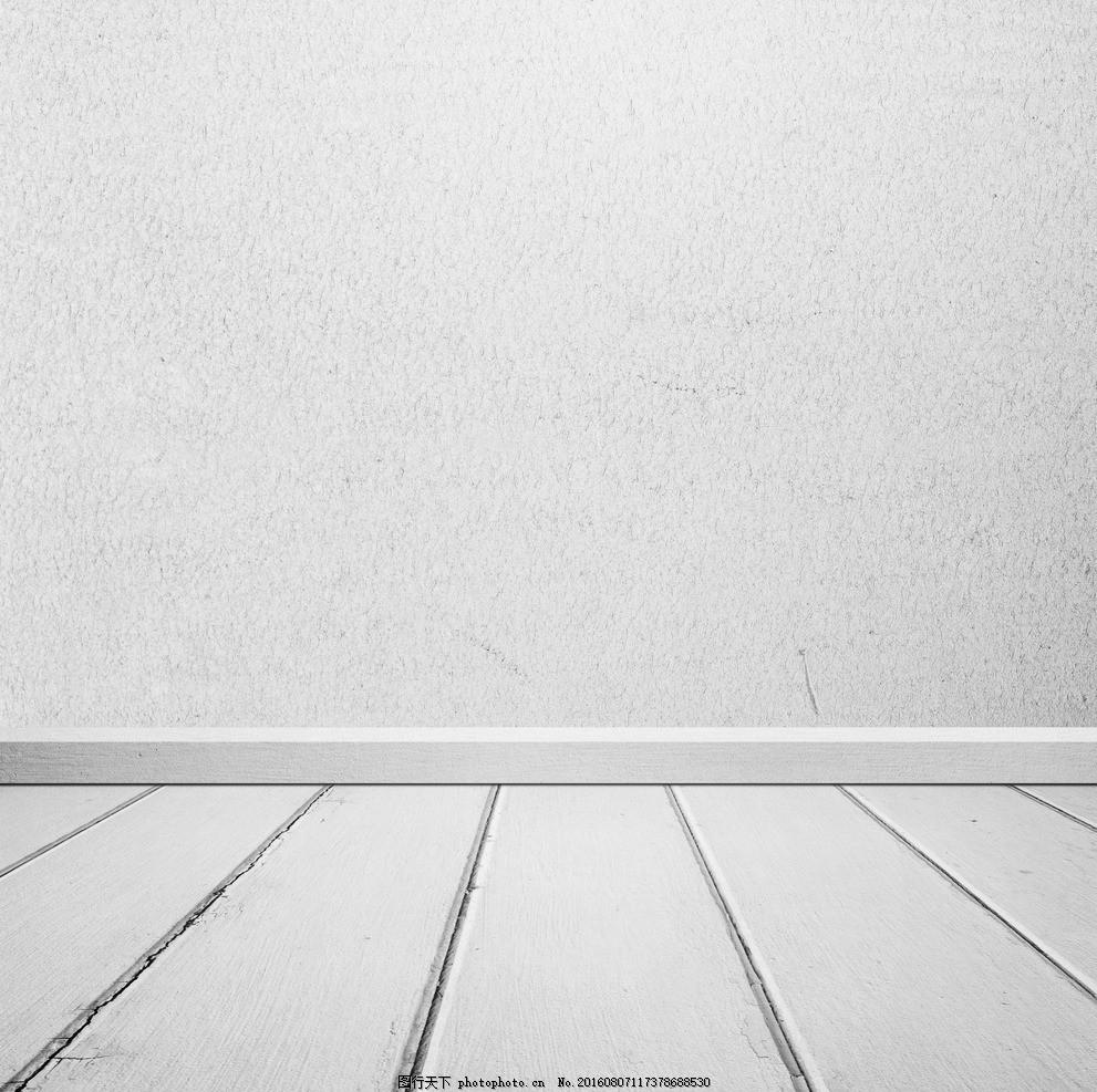 空间白色木纹水泥墙面背景底纹