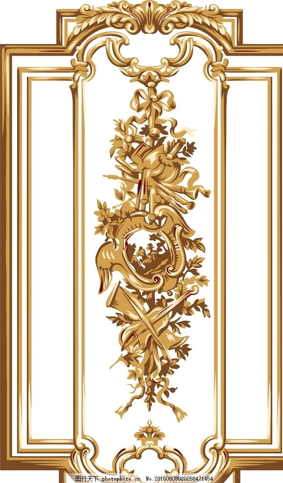 金色欧式花纹背景素材