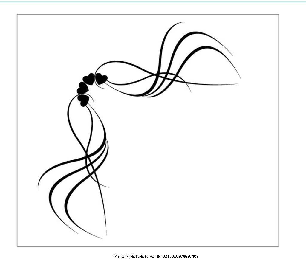 室内装饰花纹 花边剪影 实心花边 空心花边 抽象花边 欧式花边 简单花
