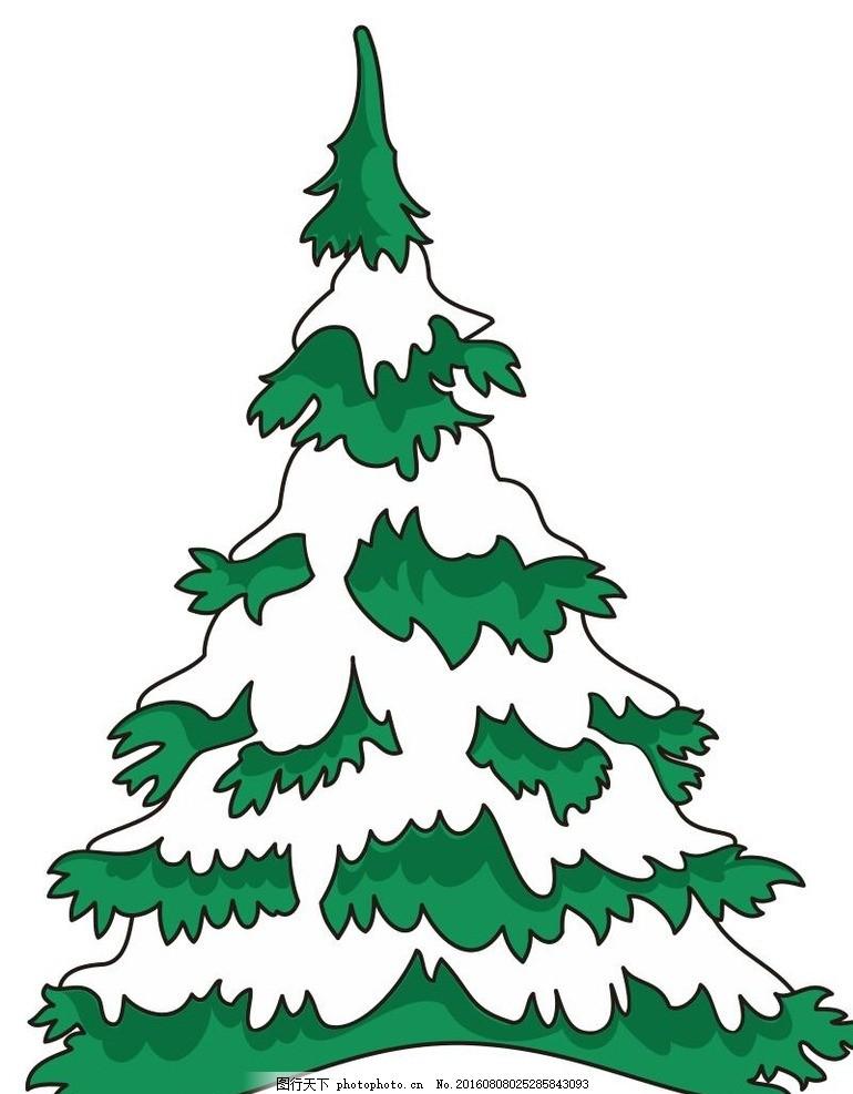 松树 圣诞树 简约 简单 时尚 树 简约画 植物 树木 草木 艺术插画