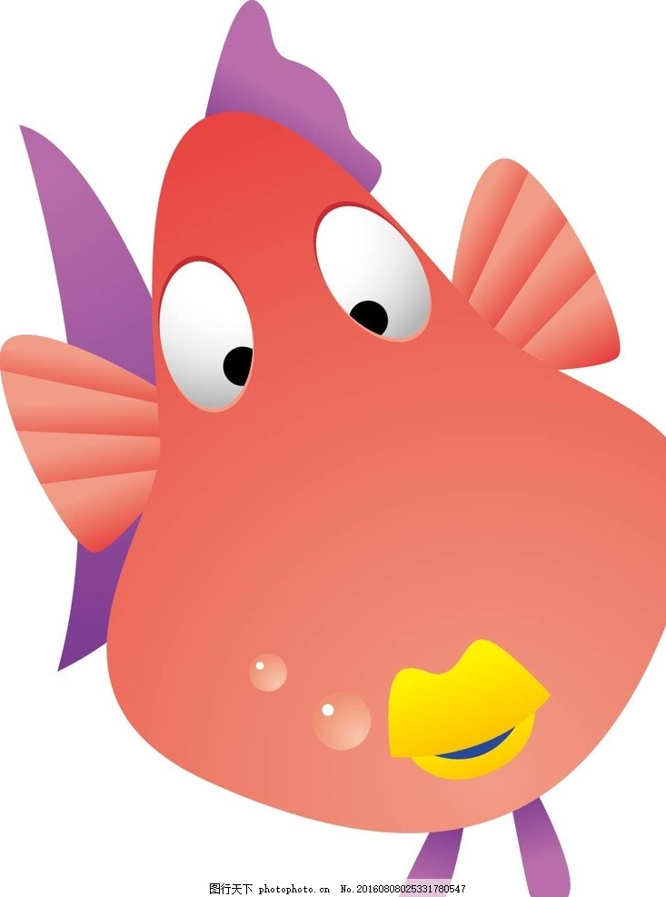 鱼 小丑鱼 动物 卡通动物 矢量素材 幼儿园墙画 卡通贴纸 小动物