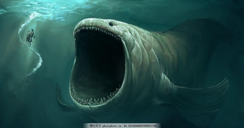 鲸鱼彩绘 鲸鱼 鲨鱼 手绘 水彩 彩绘 绘画 素材 装饰画 无框画 海底