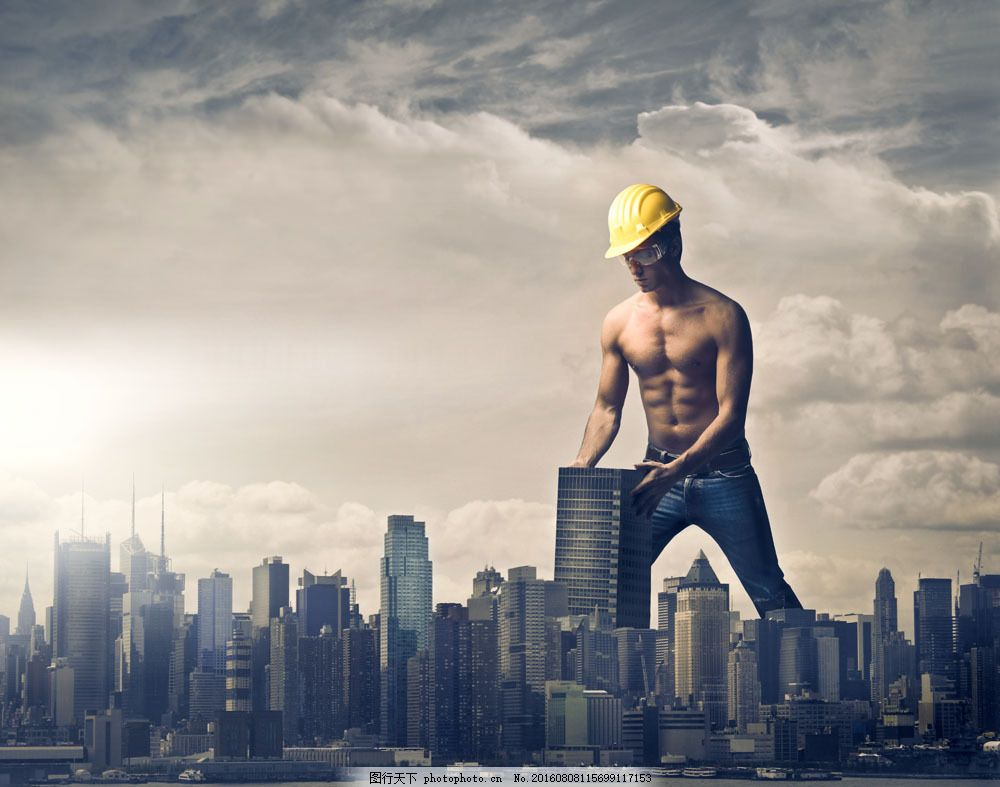 建房子的建筑工人图片
